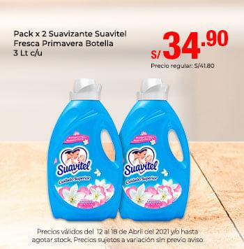 Pack x 2 Suavizante Suavitel Fresca Primavera Botella 3 Lt c/u
