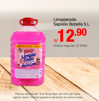 Limpiatodo Sapolio Botella 5 L