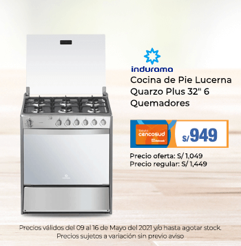 Indurama Cocina de Pie Lucerna Quarzo Plus 32