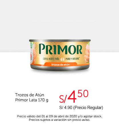 Oferta Trozos de Atún Primor Lata 170gr