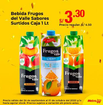 Bebida Frugos del Valle Sabores Surtidos Caja 1L
