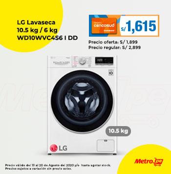 LG Lavaseca 10.5 Kg / 6 Kg WD10WVC4S6 AI DD