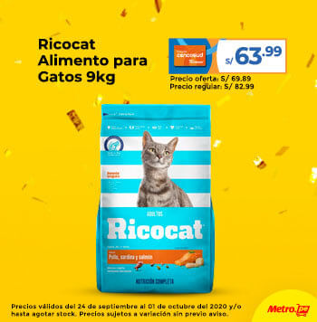 Ricocat Alimento para Gatos 9kg