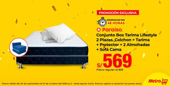 Despacho 48 Horas Paraíso Conjunto Box Tarima Lifestyle 2 Plazas