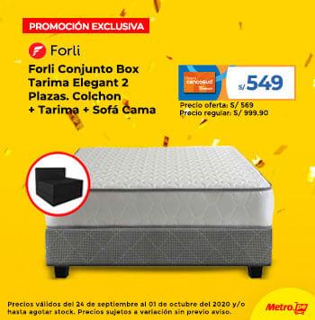 Forli Conjunto Box Tarima Elegant 2 Plazas