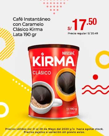 Café Instantáneo con Caramelo Clásico Kirma Lata 190 gr