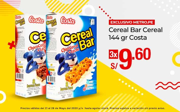 Cereal Bar Cereal 144 gr Costa
