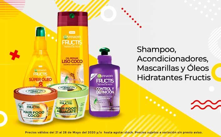 Shampoo, Acondicionadores, Mascarillas y Óleos Hidratantes Fructis