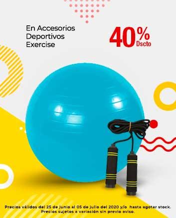 40% de dscto en Accesorios Deportivos Exercise
