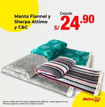 Manta Flannel y Sherpa Attimo y C&C desde 24.9