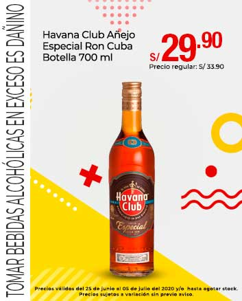 Havana Club Añejo Especial Ron Cuba Botella 700 ml