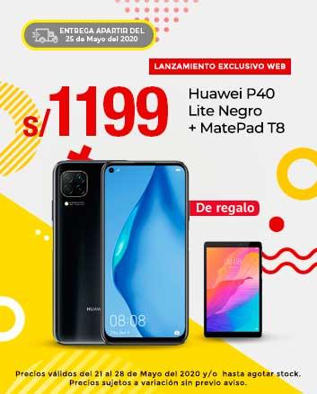 Huawei P40 Lite Negro + MatePad T8
