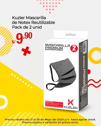 Kuzler Mascarilla de Notex Reutilizable Pack de 2 unid