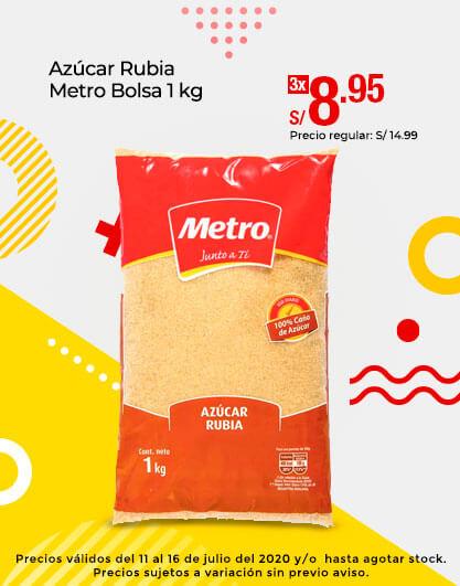 Azúcar Rubia Metro Bolsa 1 kg