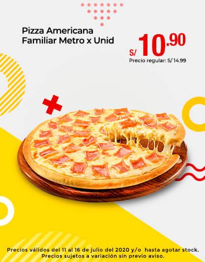 Pizza Americana Familiar Metro x Unid
