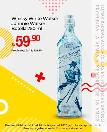 Whisky White Walker Johnnie Walker Botella 750 ml