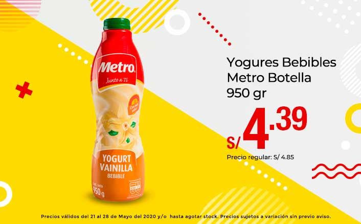 Yogures Bebibles Metro Botella 950 gr