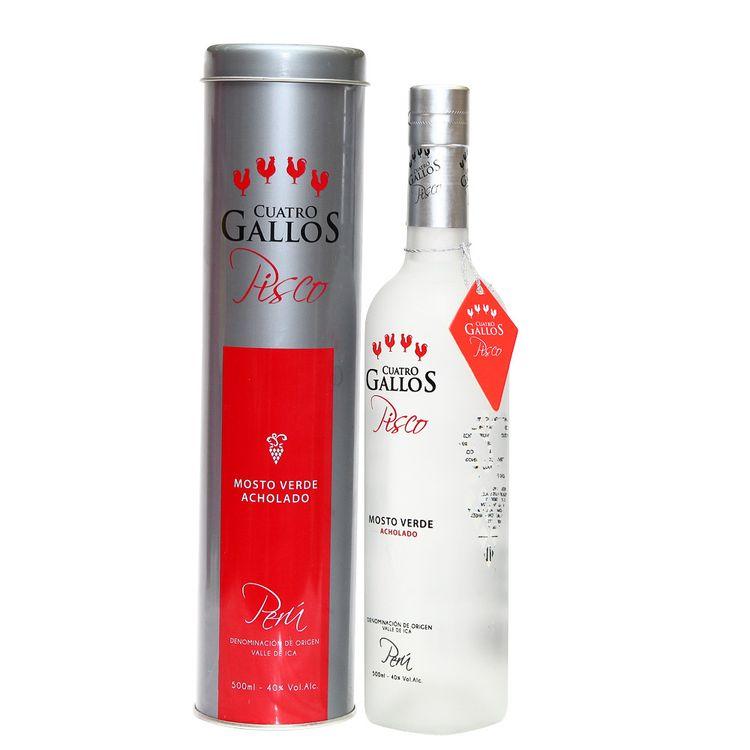 Pisco-Mosto-Verde-Cuatro-Gallos-Acholado-Botella-500-ml