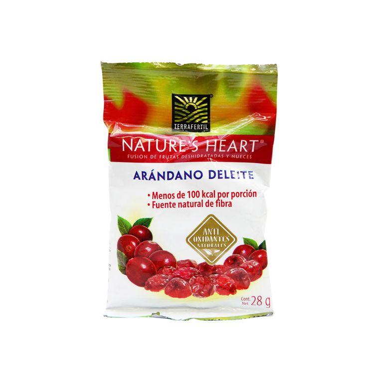 Snack-Arandanos-Deleite-Nature-s-Heart-Terra-Fertil-Bolsa-28-g