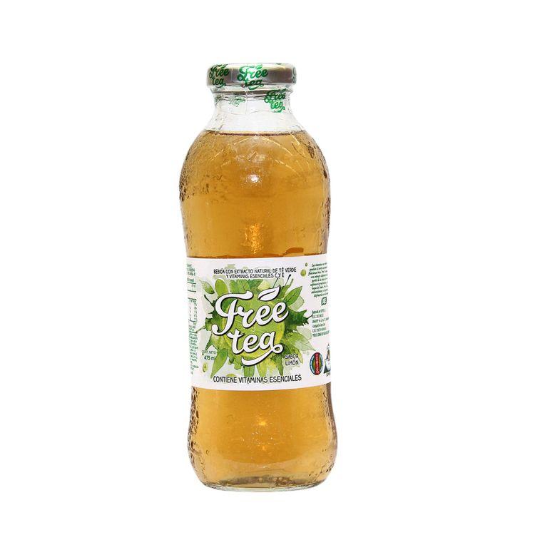 té verde limón free tea botella 475 ml wong perú wong peru