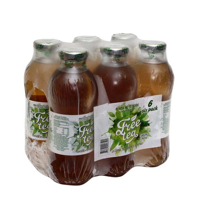 té verde limón free tea pack 6 unid x 475 ml wong perú wong peru