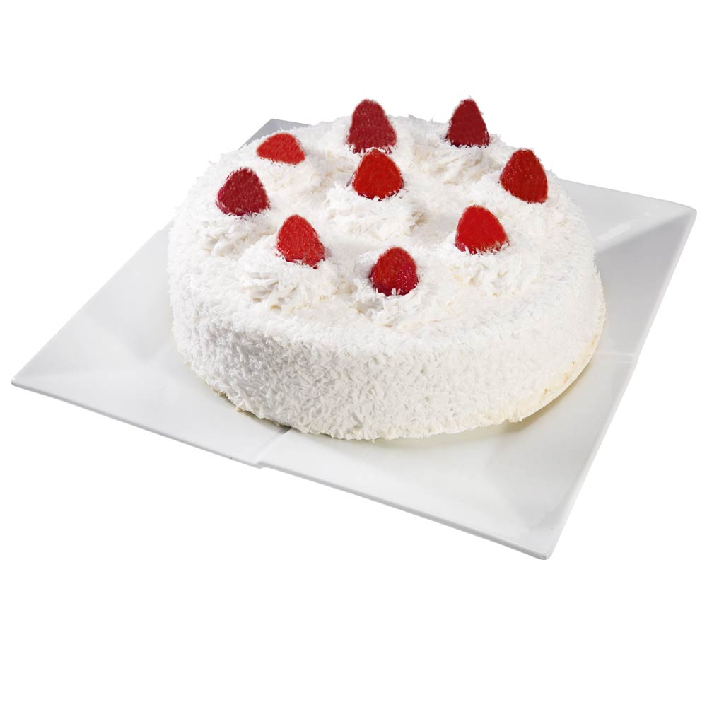 Torta Tres Leches Fresa Y Coco Mediana 16 Porciones Wong Peru