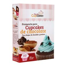 Premezcla-para-Cupcakes-Claudia-Cupcakes-De-Chocolate-con-Chispas-de-Chocolate---Pirotines-Caja-350-g