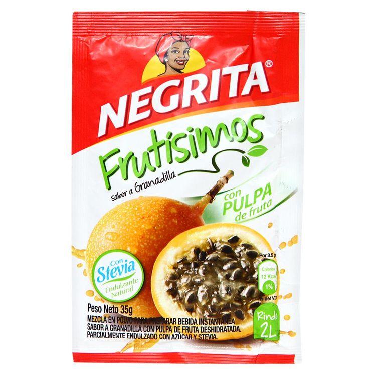 Refresco-Instantaneo-La-Negrita-Frutisimos-Granadilla-con-Stevia-Sobre-35-g