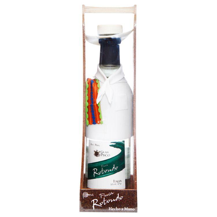 Pisco-Puro-Finca-Rotondo-Italia-Botella-375-ml---Traje-Tipico