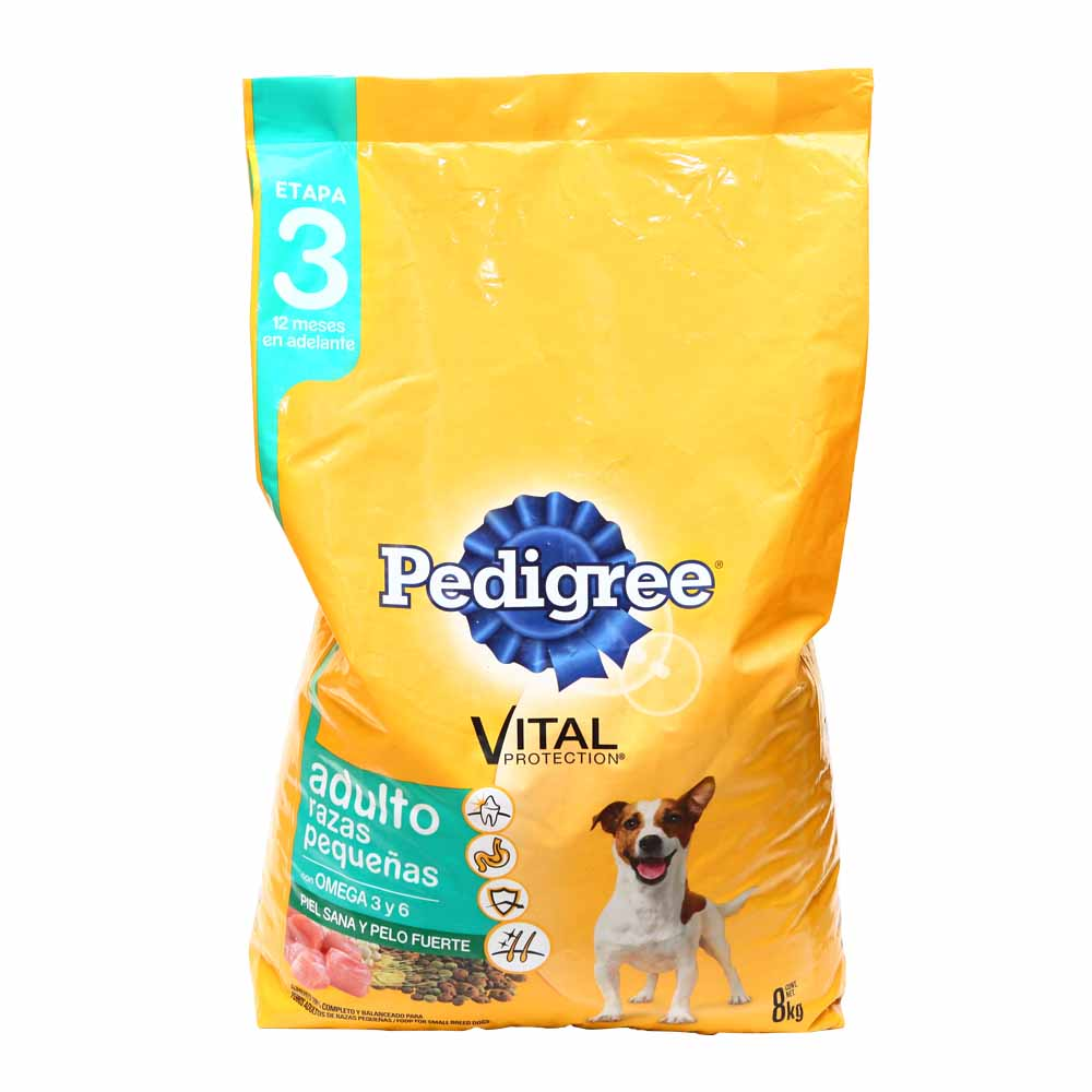 alimento para perros pedigree vital protection adultos razas peque as etapa 3 bolsa 8 kg wong. Black Bedroom Furniture Sets. Home Design Ideas