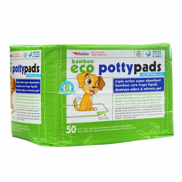 Pañales-de-Entrenamiento-Eco-Bamboo-Potty-Pads-Hartz-Pack-50-Unid