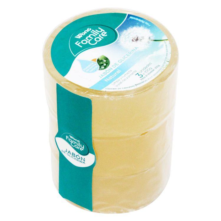 Jabon-de-Glicerina-Wong-Family-Care-Natural-Pack-3-Unid-100-g