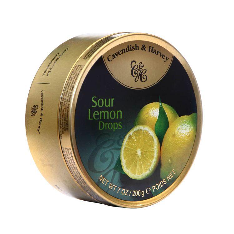 Caramelos-Cavendish---Harvey-Sour-Lemon-Drops-Lata-200-g