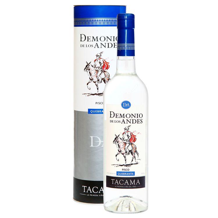 Pisco-Puro-Demonio-de-los-Andes-Quebranta-Botella-700-ml---Tubo