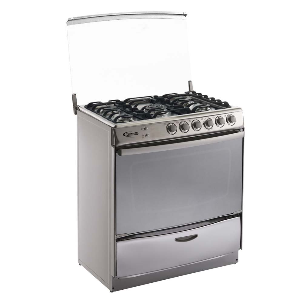 Klimatic Cocina de Pie a Gas 5 Hornillas Speciale Plateado | Wong ...