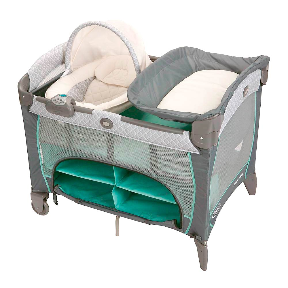 Graco Cuna Corral Pack and Play Napper Manor Portátil Electrónico + ...