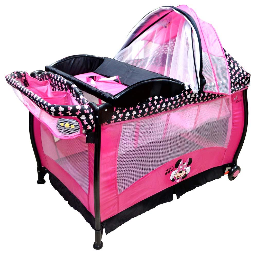 Disney baby cuna corral de viaje minnie wongfood - Cunas de viaje mothercare ...