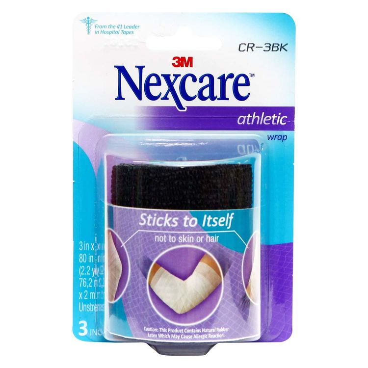 Venda-Coban-Adherente-Athletic-Nexcare-Color-Negro-Sticks-to-Itself--3-x-5--1-87201