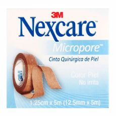 Micropore-Nexcare-Color-Piel-Cinta-Adhesiva-de-Papel-125-cm-X-5-m-Ideal-para-piel-sensible-1-87186