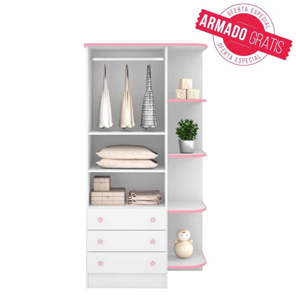 Casabella Ropero Dulce Sue O Blanco Rosa Metrofood # Muebles Dentales Selecto