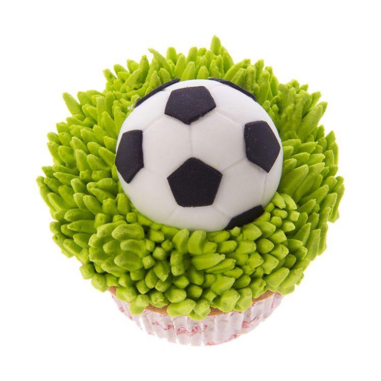 Cupcake Glasé Wong Futbol Pelota x 12 Unid  2ac5764584099