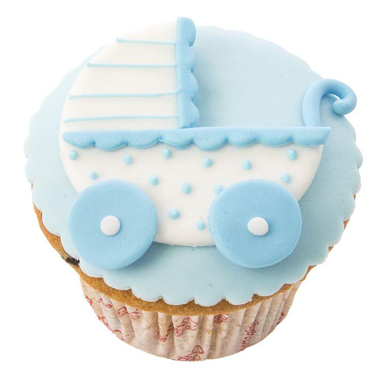 Cupcake-Fondant-Wong-Wellcome-Baby-Coche-Celeste-x-Unid-1-44317