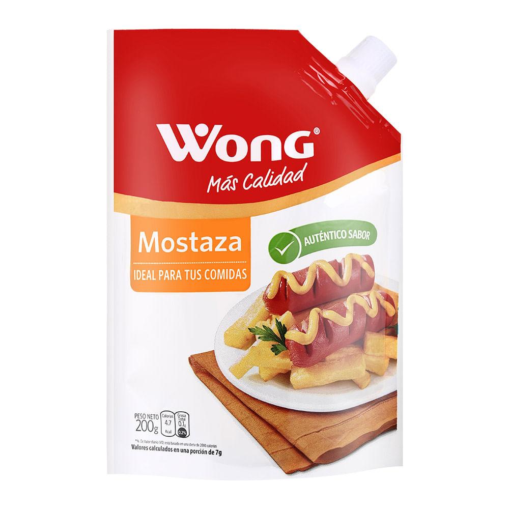 Mostaza Wong Doy Pack 200 G Wong