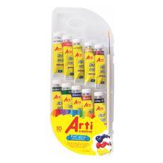 Arti-Creativo-Pintura-Acrilica-10-X-10-Ml---Pincel-1-22117