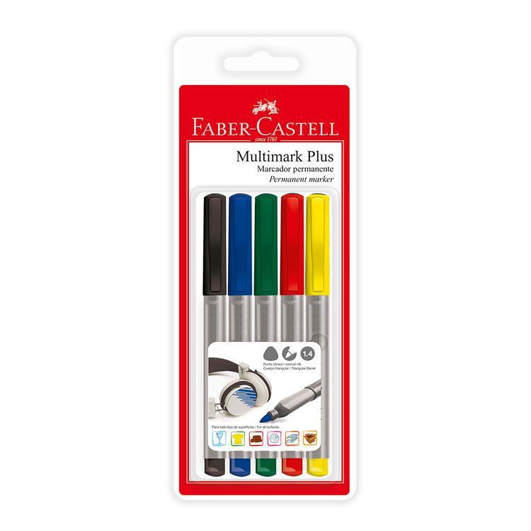 Faber-Castell-Blister-X-5-Multimark-Plus---Estandar-2-1-24291
