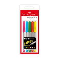 Faber-Castell-Blister--X-5-Multimark-Plus--Neon-1-24292