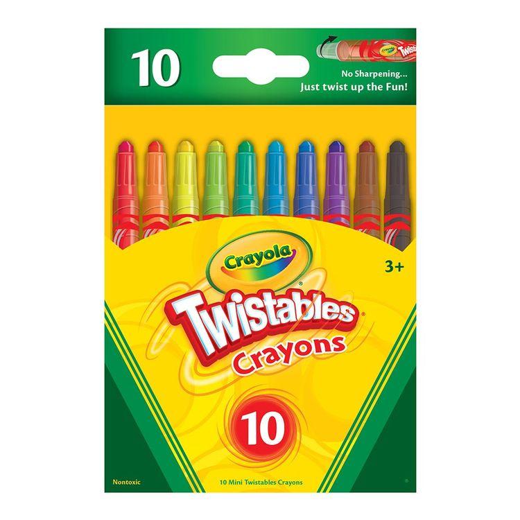 Crayola Crayola® 12 Crayones Mini Twistables Olores Divertidos |Wong ...