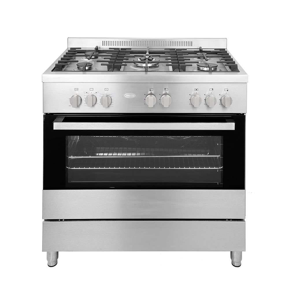 Klimatic Cocina de Pie a Gas 5 Hornillas Vittoria Plateado - wongfood