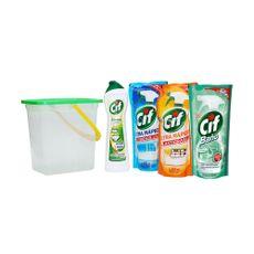 Pack-Cif--Balde---Cif-Cocina-450-ml---Cif-Vidrio-450-ml---Cif-Baño-450-ml---Cif-Crema-Multiuso-Frasco-500-ml-1-155409