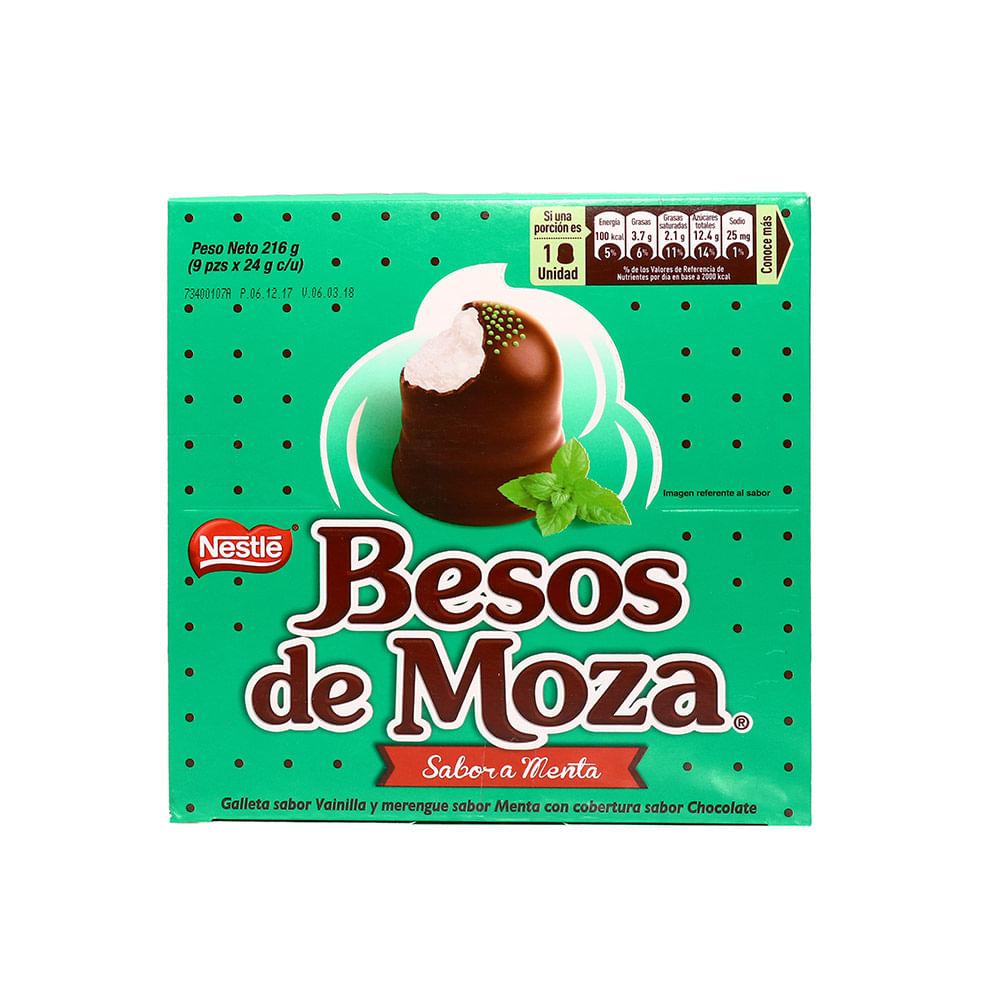 Chocolate Nestlé Beso de Moza Menta Caja 9 Unidades | Wong Perú ...